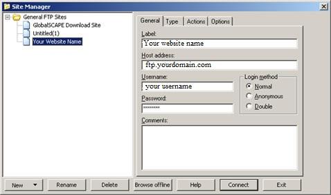 cuteFTP Setup Guide Step 2