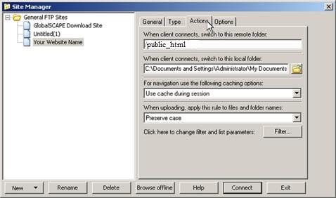 cuteFTP Setup Guide Step 3