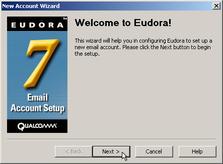 Eudora Setup Guide Step 1