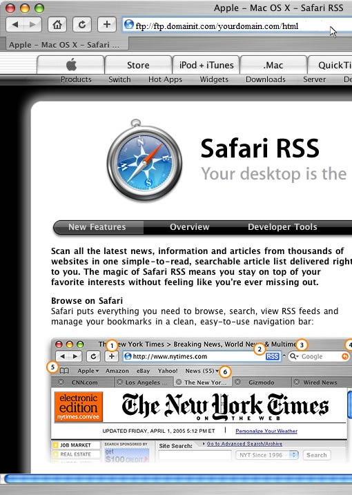 Safari FTP Setup Guide Step 1