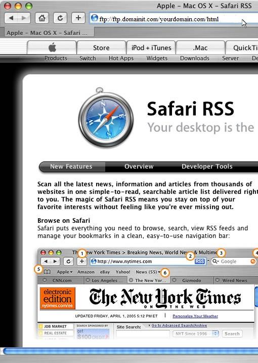 Safari FTP Setup Guide Step 1
