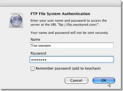 Safari FTP Setup Guide Step 2