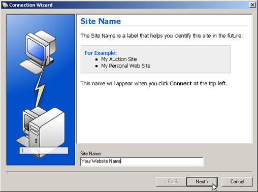 WS_FTP Setup Guide Step 3